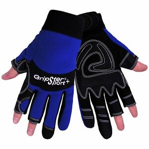 Global Glove Sg9001nf Aireflex Leather Gripster Sport Plus Fingerless Glove W