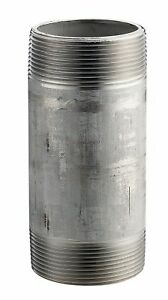 Merit Brass 4212 400 Stainless Steel 304 304l Pipe Fitting Nipple Schedule