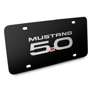 Ford Mustang Gt 5 0 3d Black Stainless Steel License Plate