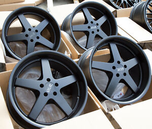 Used Set 18x9 Xxr 968 5x100 20 Black Rims Aggressive Fits Wrx Brz Frs Celica