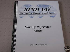 Sinda g Thermal Analyzer User Manual And Cd Sinda 3d
