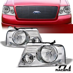 For 2004 2008 Ford F150 2006 Mark Lt Oe Chrome Clear Headlights Signal Lamps Nb