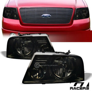 For 2004 2008 Ford F150 Oe Smoke Clear Housing Headlights Signal Lamps Pair Nb