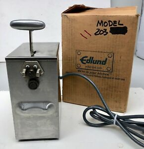 Edlund 203 Hi low Tabletop Commercial Kitchen Electric Can Opener 1ph 2 Speed