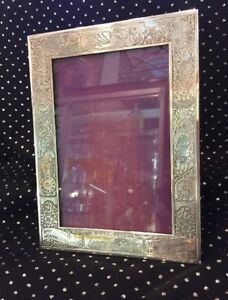 Vintage 1959 Blackington Sterling Silver Etch Baby Birth Frame 4 X 6 Picture