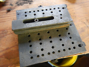 Older Carbide Grinding Fixture With X And Y Glide Movement Machinist Jig