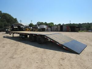 32 gooseneck hydraulic Dove Tail 2 10 000 axles load Trail brand New
