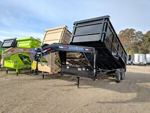 16 Ft Tandem Axle Gooseneck Dump Trailer brand New 48 Sides Load Trail