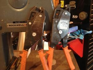 Burndy Oh25 Hytool Electrical Dieless One Hand Ratchet Crimper