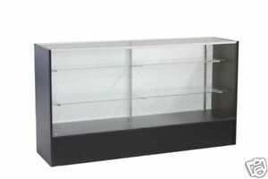 Glass Wood Black Showcase Display Case Store Fixture Knocked Down sc6bk
