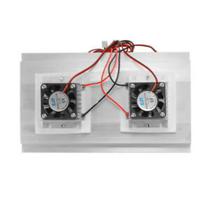 Heatsink Cooler Thermoelectric Peltier Double Fan Cold Conduction Module Te957