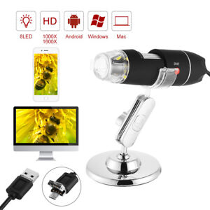 Wifi Usb Microscope Digital Zoom Handheld 2mp Camera 8 Led Magnifier W Stand