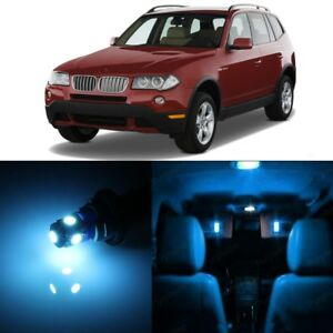 15 X Error Free Ice Blue Led Interior Light For 2004 2010 Bmw X3 Series Tool