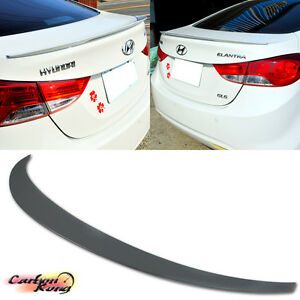 For Hyundai Elantra Md 4dr Rear Trunk Boot Spoiler Wing 11 15 Unpainted Abs