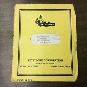 Pettibone 70 Crane Parts Manual Book Catalog List Guide Swing Cab Rough Terrain