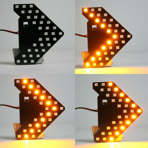 Yellow 33 smd Sequential Led Arrows Panel For Car Side Mirror Turn Signal Lights