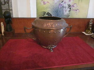 Wmf Art Nouveau Running Ostrich Footed Urn Brass And Copper Not Polished
