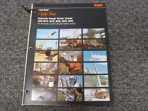 Link Belt Hsp 8015 Rough Terrain Crane Specifications Lifting Capacities Manual