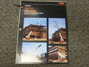 Link Belt Hsp 8025 Rough Terrain Crane Specification Lifting Capacities Manual