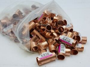 50 Pc Lot C611 Nibco 1 2 Copper Tee Sweat Fitting Coupling Plumbing Nos Cxcxc
