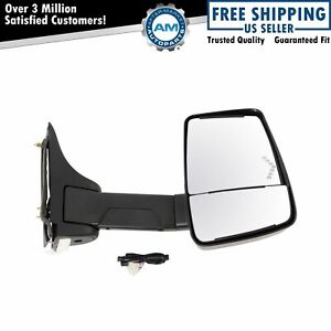 Tow Mirror Power Heated Led Signal Smooth Black Passenger Right Rh For Gm Van