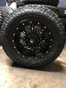 18x9 Fuel D517 Krank Wheels 33 Toyo At Tires Package 5x5 Jeep Wrangler Jk Jl