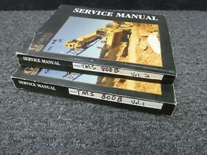 Grove Tms 800b 80 ton Truck Crane Shop Service Repair Manual 2 Volume Set