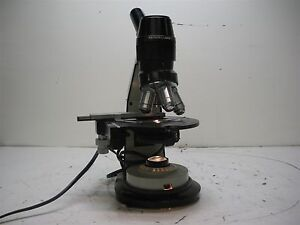 Vintage Bausch Lomb Microscope With 4 Objectives
