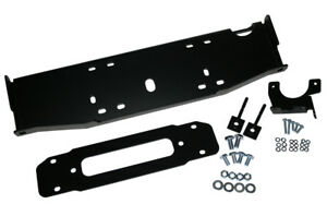 New Winch Mount Plate For Jeep Jk Hard Rock 10th Anniv Steel Oem Front Bumper