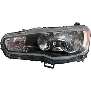 Headlight For 2009 2017 Mitsubishi Lancer Left Clear Lens Halogen With Bulb