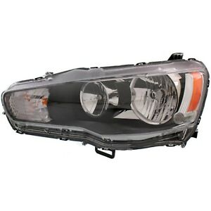 Headlight For 2009 2017 Mitsubishi Lancer Left Clear Lens Halogen With Bulb Capa