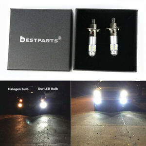2x 100w H1 6000k White High Power Cree Led Fog Light Driving Bulb Drl