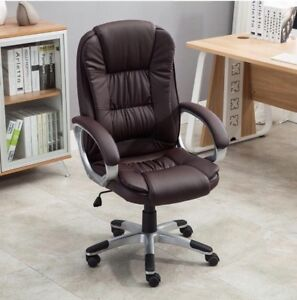 Best Deal For Chairs belleze Ergonomic Office Leather Chair Brown new In Box