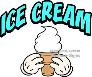 Ice Cream Decal choose Your Size Concession Food Truck Vinyl Sticker M