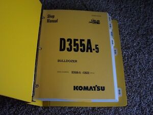 Komatsu D355a 5 12622 Bulldozer Factory Original Service Shop Manual