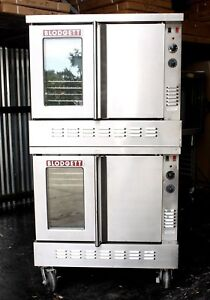 Doublestack Blodgett Commercial Gas Convection Ovens Bakery Pizza School