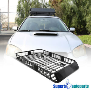Universal 64 Black Steel Extend Cargo Carrier Roof Rack Luggage Holder Basket