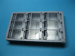 8 Pcs Smt Electronic Component Mini Storage Box 9 Lattice Blocks Gray T 155 New