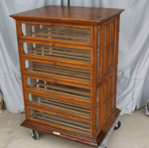 Antique Country Store Oak Country Store Ribbon Cabinet A N Russell