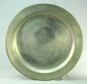 Antique L H Vaughan Taunton Pewter 13 3 Charger Barnard S Inn Tavern 1776