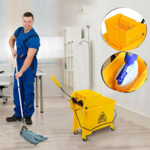 Commercial Rubber Bucket Wringer 20l Mop Buckets Commercial Combo Side Press