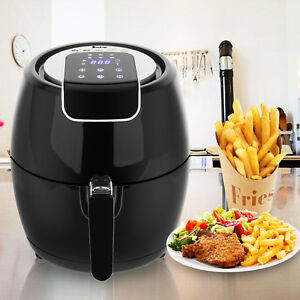1500w Lcd Electric Air Fryer W 6 Cooking Presets temperature Control timer 3 7qt