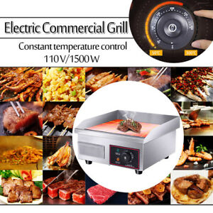 14 Electric Countertop Griddle Flat Top Commercial Restaurant Grills Bbq 110v