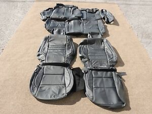 Leather Seat Covers Interior Upholstery Fits Toyota Camry Le 15 17 Black J117