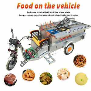 New Electric Tricycle Concession Stand Trailer Mobile Kitchen