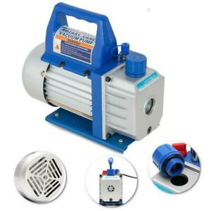 3cfm 1 4hp Rotary Vane Vacuum Pump Deep Hvac R134a Air Refrigerant Conditioning