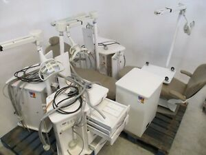 Quality Lot Of 2 Mcc Dental Patient Exam Chairs W 4 Ortho Delivery Systems