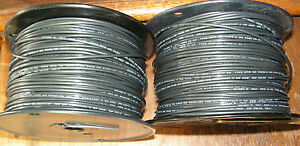 2 14 Gauge Stranded Copper Wire cable Rolls Of 500 Black