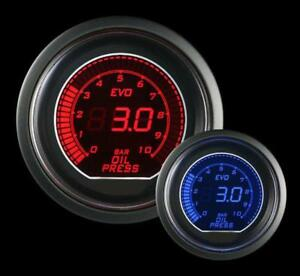 Prosport Universal Evo Metric Series 52mm Oil Pressure Gauge 0 To 10 Bar