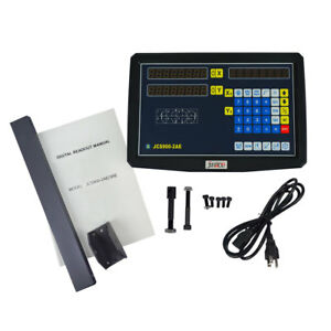 2 Axis Dro Kit Digital Readout Display Linear Scale For Milling Lathe Machine